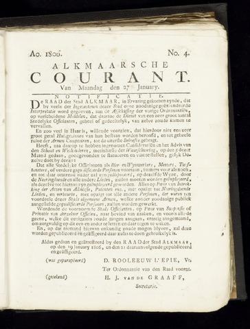 Alkmaarsche Courant 1806-01-27