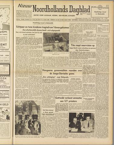 Nieuw Noordhollandsch Dagblad : voor Alkmaar en omgeving 1949-10-31