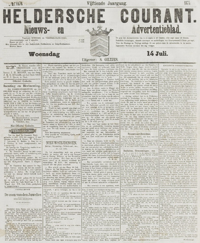Heldersche Courant 1875-07-14