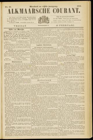 Alkmaarsche Courant 1903-02-27