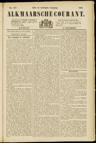 Alkmaarsche Courant 1886-11-14