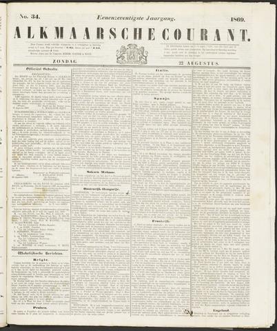 Alkmaarsche Courant 1869-08-22