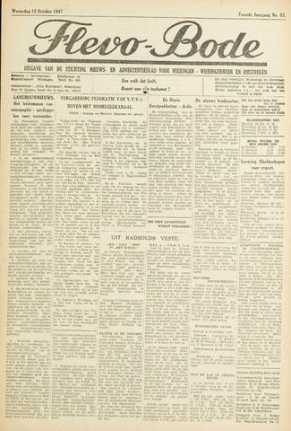 Flevo-bode: nieuwsblad voor Wieringen-Wieringermeer 1947-10-15