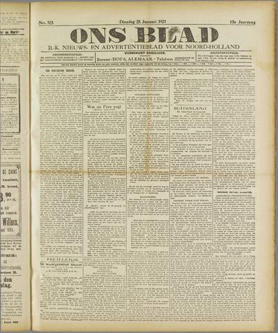 Ons Blad : katholiek nieuwsblad voor N-H 1921-01-25