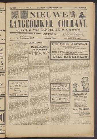 Nieuwe Langedijker Courant 1924-09-27