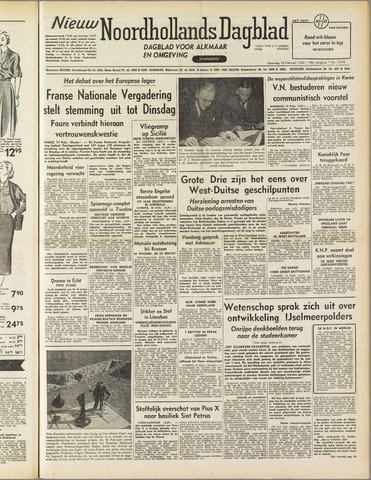 Nieuw Noordhollandsch Dagblad : voor Alkmaar en omgeving 1952-02-18