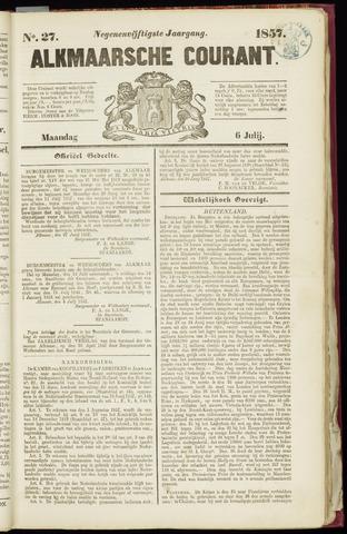 Alkmaarsche Courant 1857-07-06
