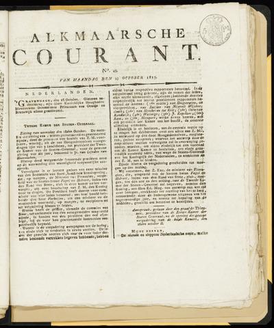 Alkmaarsche Courant 1815-10-23