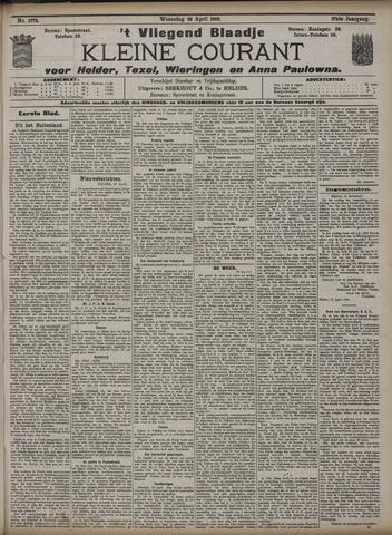Vliegend blaadje : nieuws- en advertentiebode voor Den Helder 1909-04-28