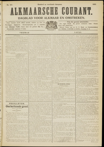 Alkmaarsche Courant 1912-07-05