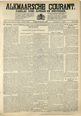 Alkmaarsche Courant 1937-11-19