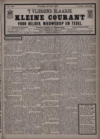 Vliegend blaadje : nieuws- en advertentiebode voor Den Helder 1884-06-25