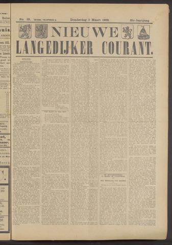Nieuwe Langedijker Courant 1922-03-09