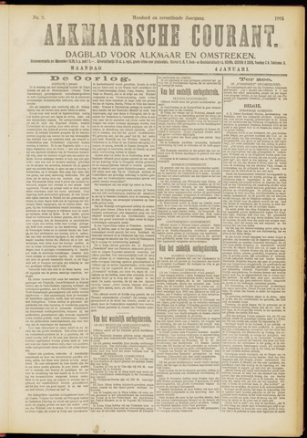 Alkmaarsche Courant 1915-01-04