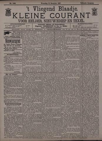 Vliegend blaadje : nieuws- en advertentiebode voor Den Helder 1887-12-21
