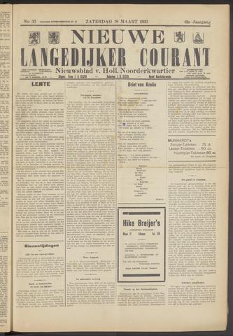 Nieuwe Langedijker Courant 1933-03-18