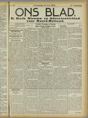 Ons Blad : katholiek nieuwsblad voor N-H 1909-07-21
