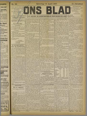 Ons Blad : katholiek nieuwsblad voor N-H 1917-04-14