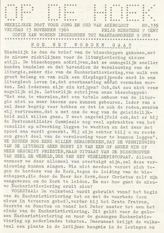 Op De Hoek, weekblad voor Akersloot 1964-11-13