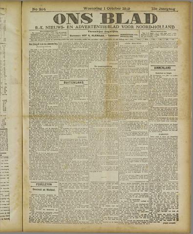 Ons Blad : katholiek nieuwsblad voor N-H 1919-10-01