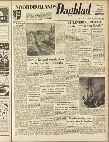 Noordhollands Dagblad : dagblad voor Alkmaar en omgeving 1953-01-27