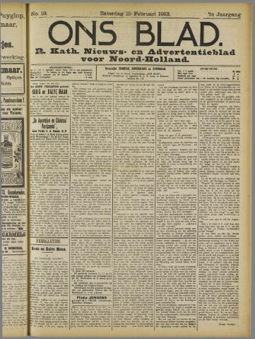 Ons Blad : katholiek nieuwsblad voor N-H 1913-02-15