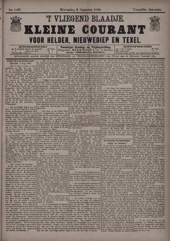 Vliegend blaadje : nieuws- en advertentiebode voor Den Helder 1884-08-06