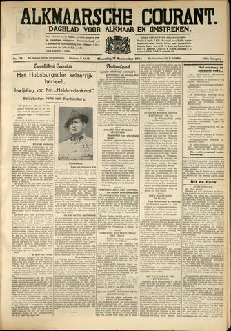 Alkmaarsche Courant 1934-09-17