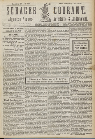 Schager Courant 1920-05-29