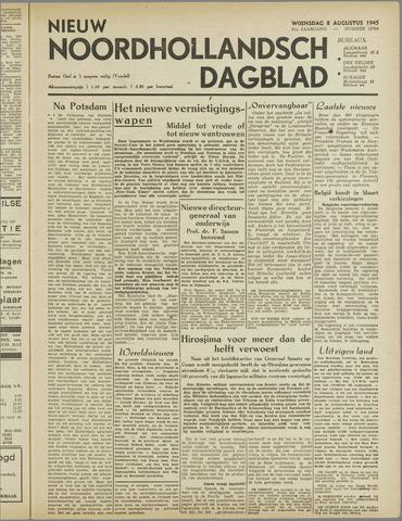 Nieuw Noordhollandsch Dagblad : voor Alkmaar en omgeving 1945-08-08