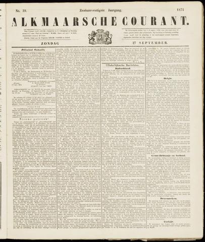 Alkmaarsche Courant 1874-09-27