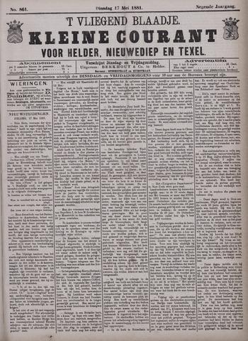 Vliegend blaadje : nieuws- en advertentiebode voor Den Helder 1881-05-17