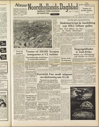Nieuw Noordhollandsch Dagblad : voor Alkmaar en omgeving 1952-03-25