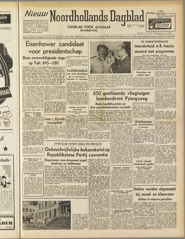 Nieuw Noordhollandsch Dagblad : voor Alkmaar en omgeving 1952-07-12