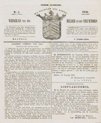 Weekblad van Den Helder en het Nieuwediep 1846-02-02