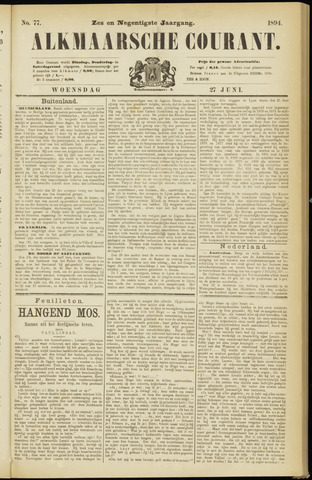 Alkmaarsche Courant 1894-06-27