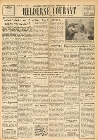 Heldersche Courant 1949-02-22