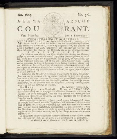 Alkmaarsche Courant 1807-09-07