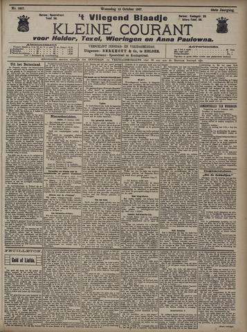 Vliegend blaadje : nieuws- en advertentiebode voor Den Helder 1907-10-16
