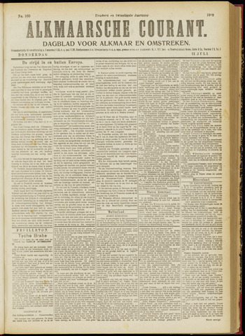 Alkmaarsche Courant 1918-07-11