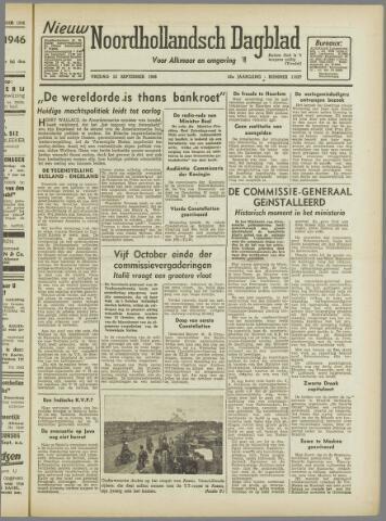 Nieuw Noordhollandsch Dagblad : voor Alkmaar en omgeving 1946-09-13