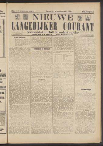 Nieuwe Langedijker Courant 1926-11-16