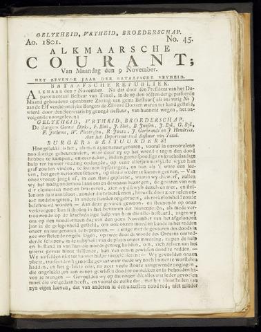 Alkmaarsche Courant 1801-11-09