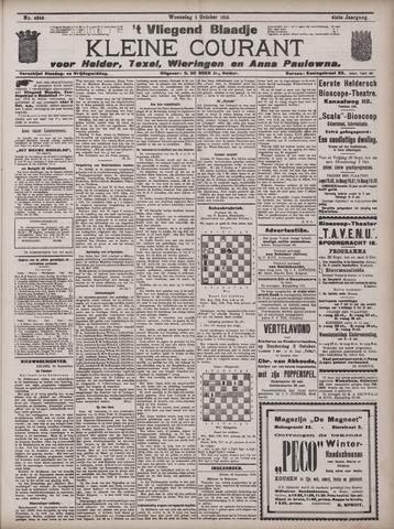 Vliegend blaadje : nieuws- en advertentiebode voor Den Helder 1913-10-01