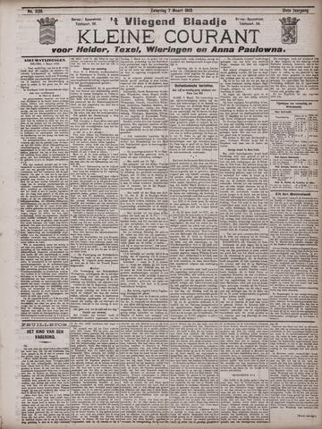 Vliegend blaadje : nieuws- en advertentiebode voor Den Helder 1903-03-07