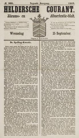 Heldersche Courant 1869-09-15