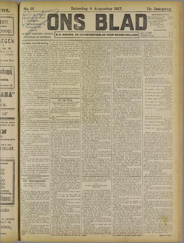 Ons Blad : katholiek nieuwsblad voor N-H 1917-08-04