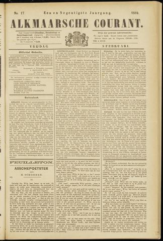 Alkmaarsche Courant 1889-02-08