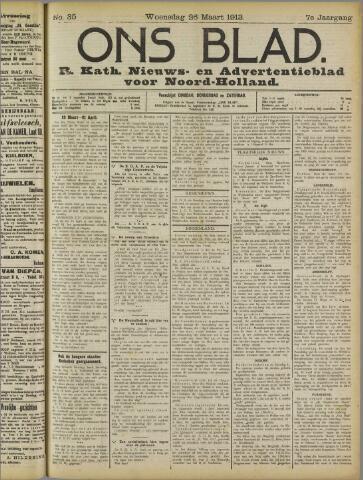 Ons Blad : katholiek nieuwsblad voor N-H 1913-03-26