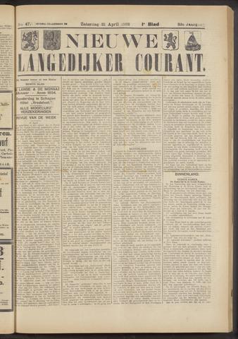 Nieuwe Langedijker Courant 1923-04-21
